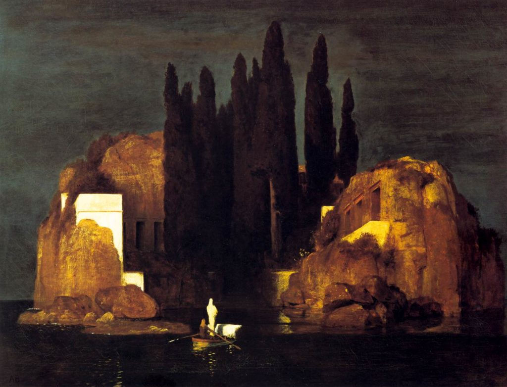 Arnold Böcklin Die Toteninsel Urfassung