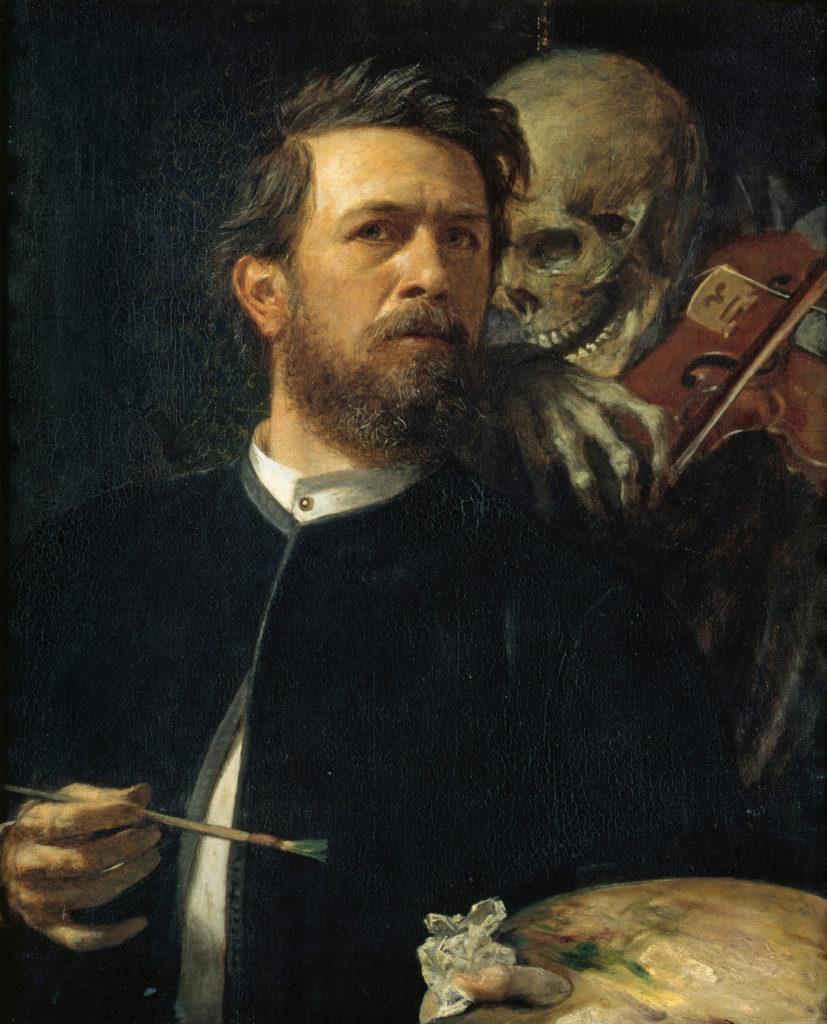 Arnold Böcklin Selbstporträt mit fiedelndem Tod
