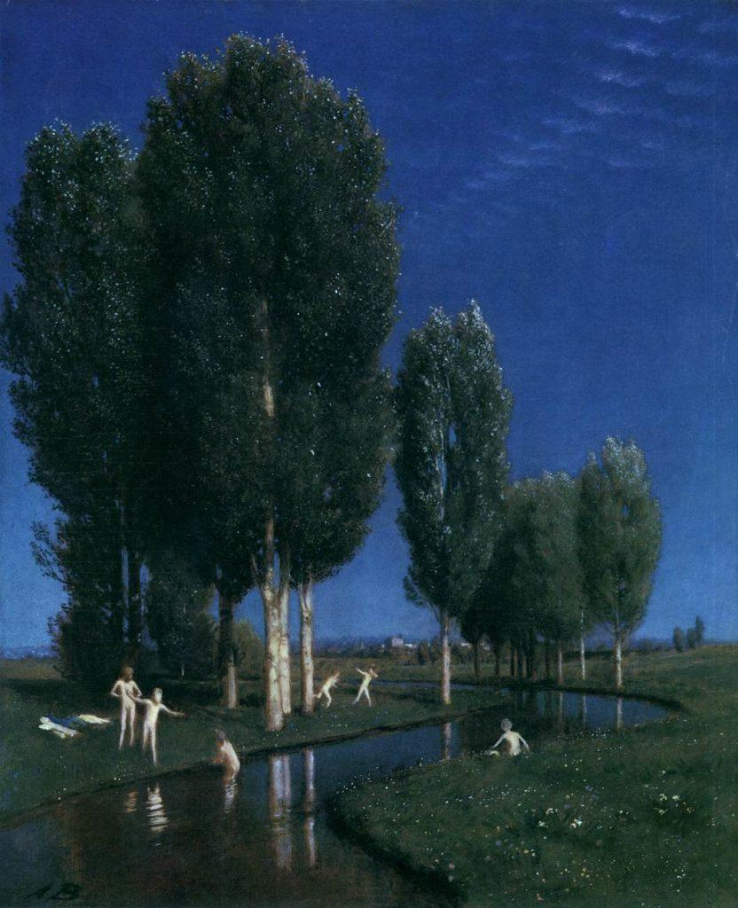 Arnold Böcklin - Sommer Tag Gemälde Bild von Arnold Böcklin