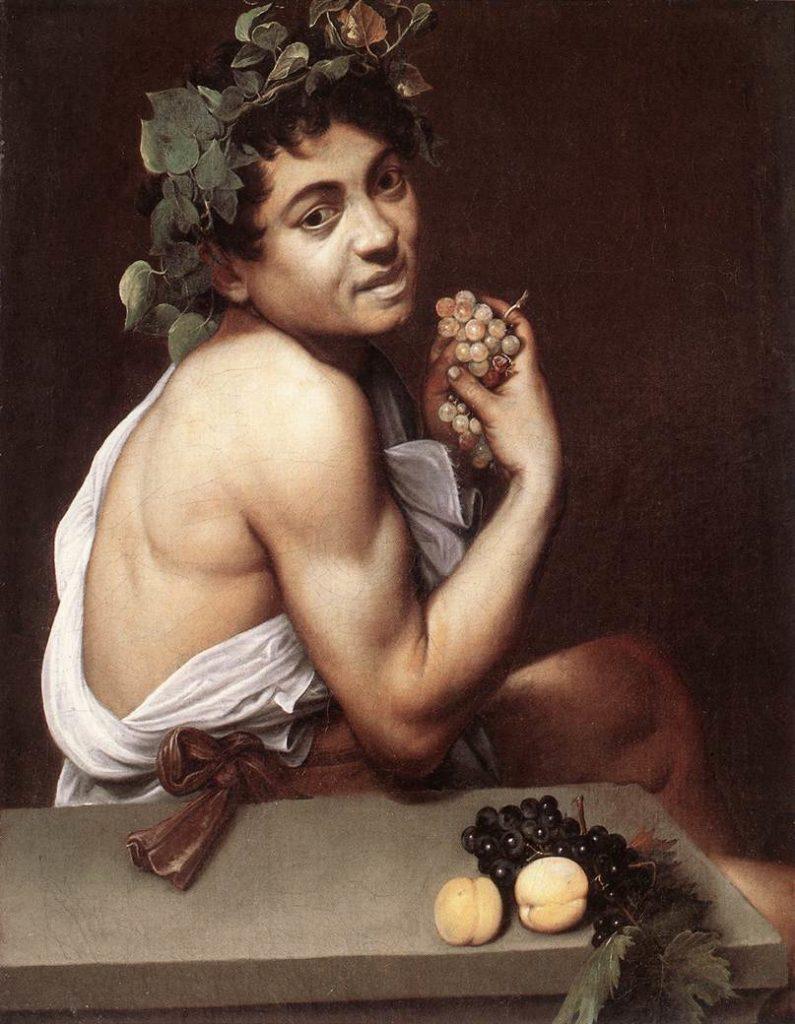 Caravaggio Kranker Bacchus frühes Gemälde von Caravaggio