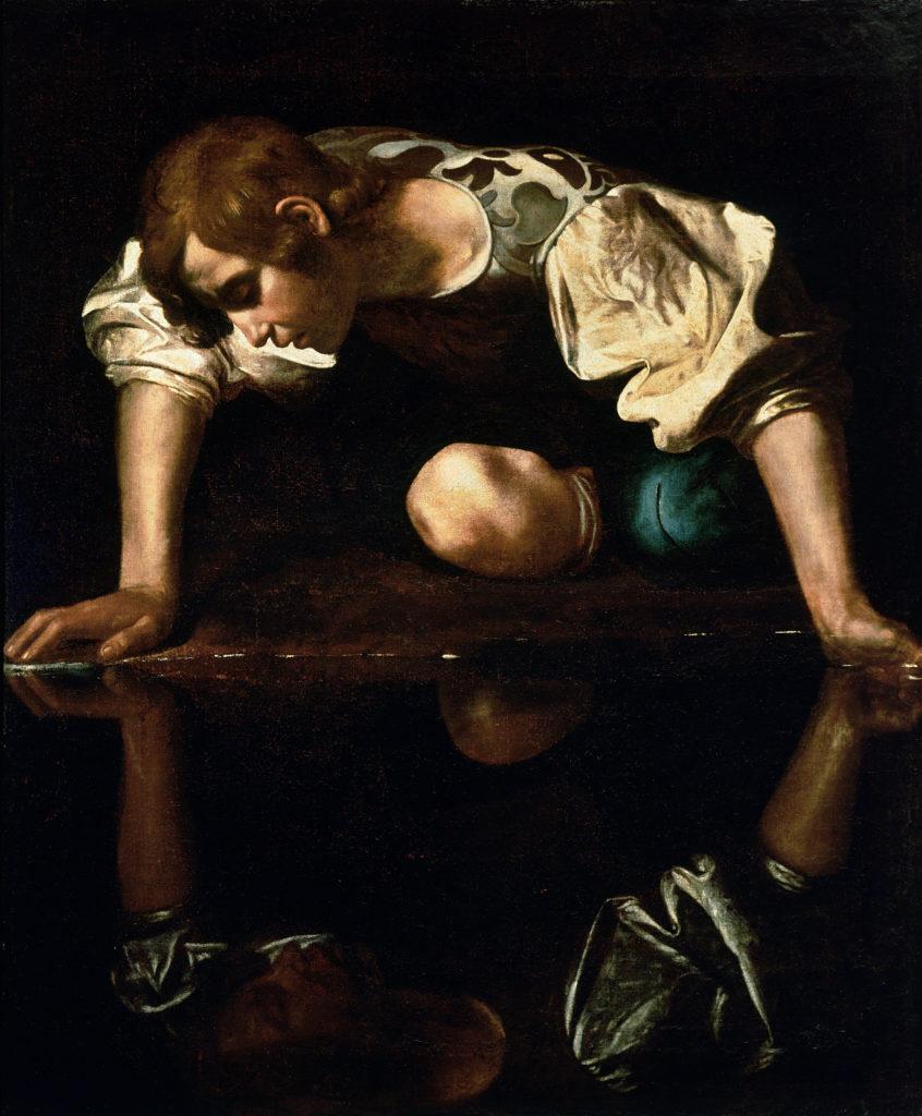Narziss Caravaggio Detailansicht
