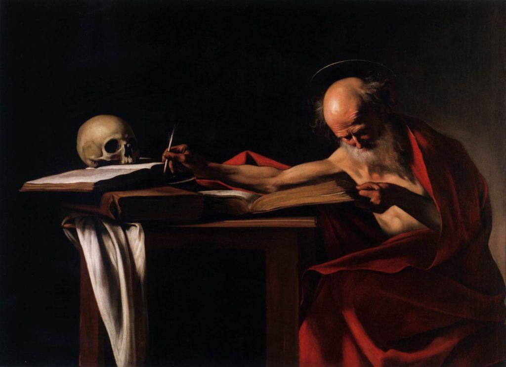 Der Heilige Hieronymus von Caravaggio Gemälde