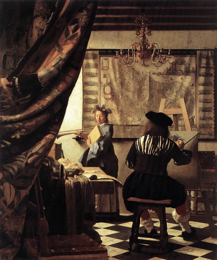 Jan Vermeer Gemälde Die Allegorie der Malkunst