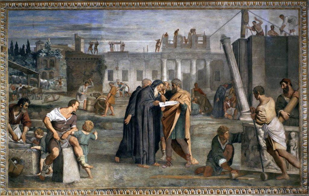 Domenichino - Freskomalerei in der Cappella dei Santi Fondatori