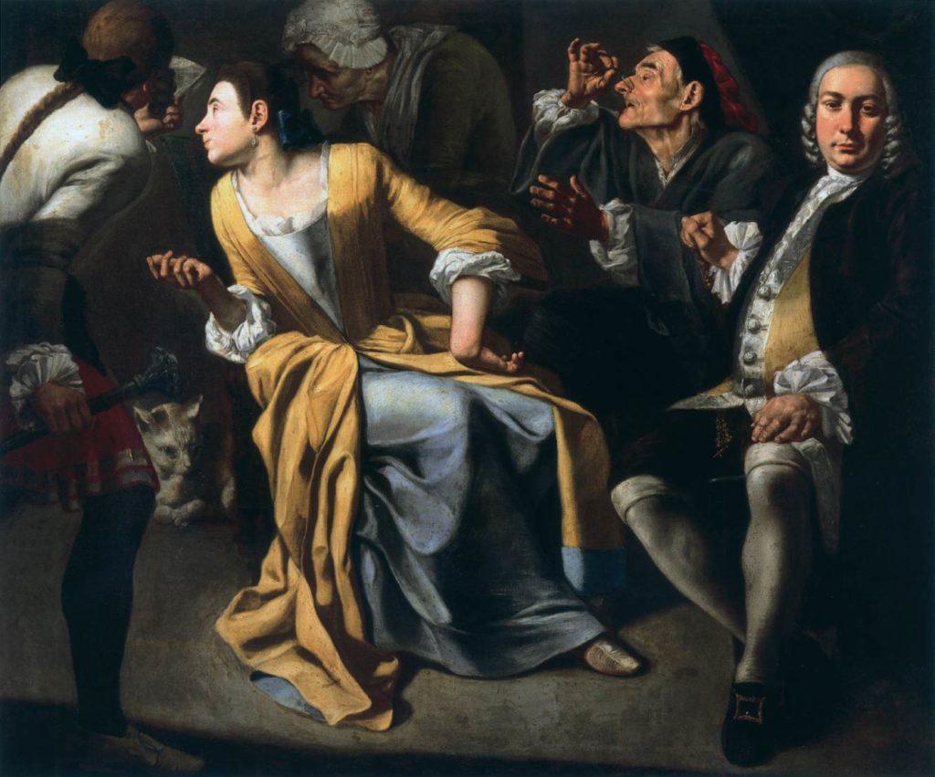 Der Geheime Brief von Gaspare Traversi Gemälde von 1755