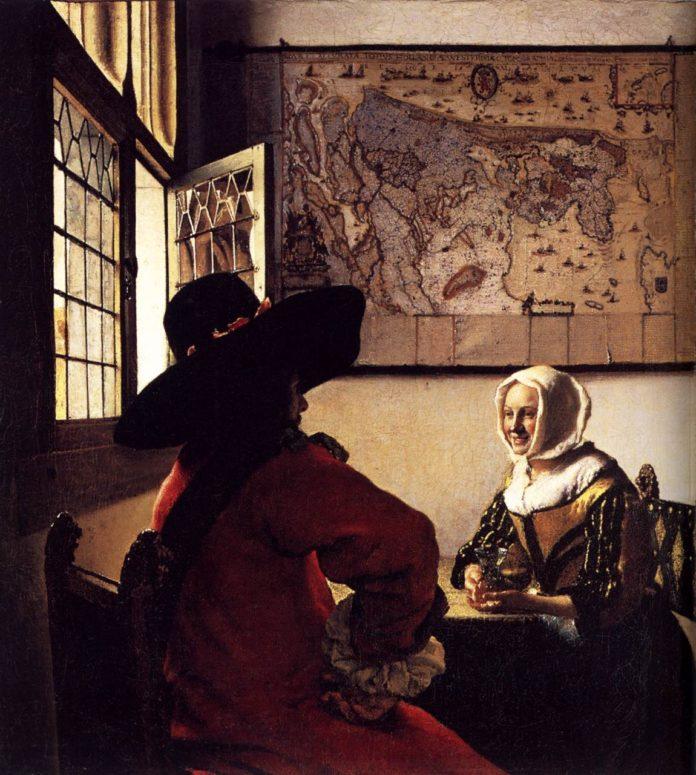 Der Soldat und das lachende Mädchen Jan Vermeer