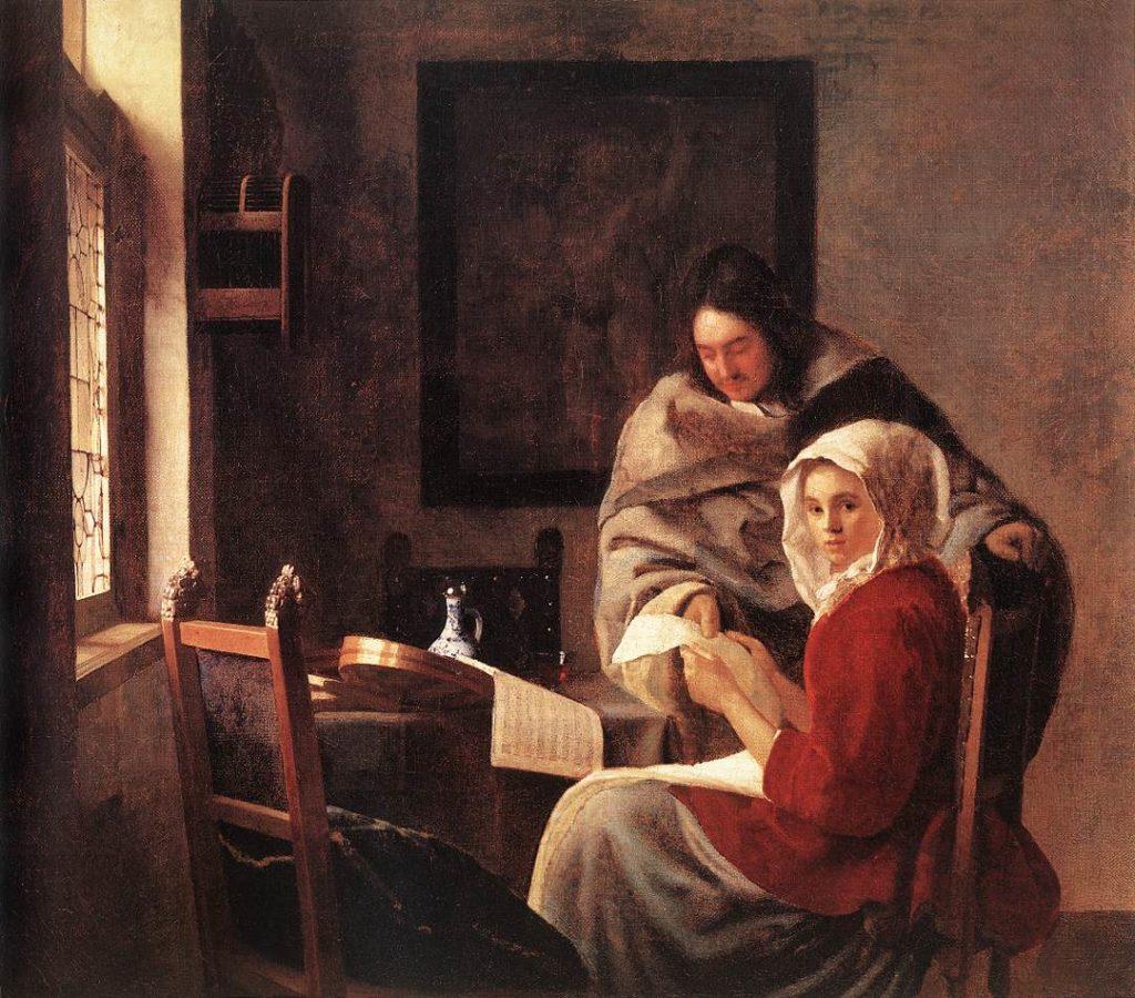 Die unterbrochene Musikstunde Jan Vermeer Gemälde Bild
