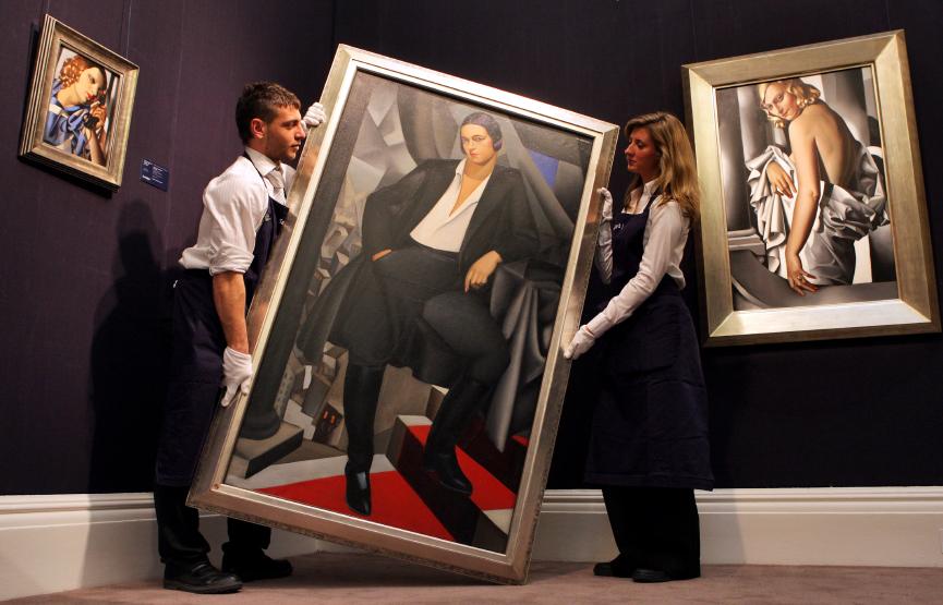 Kunst Sammeln Portrait de la Duchesse de la Salle von Tamara de Lempicka