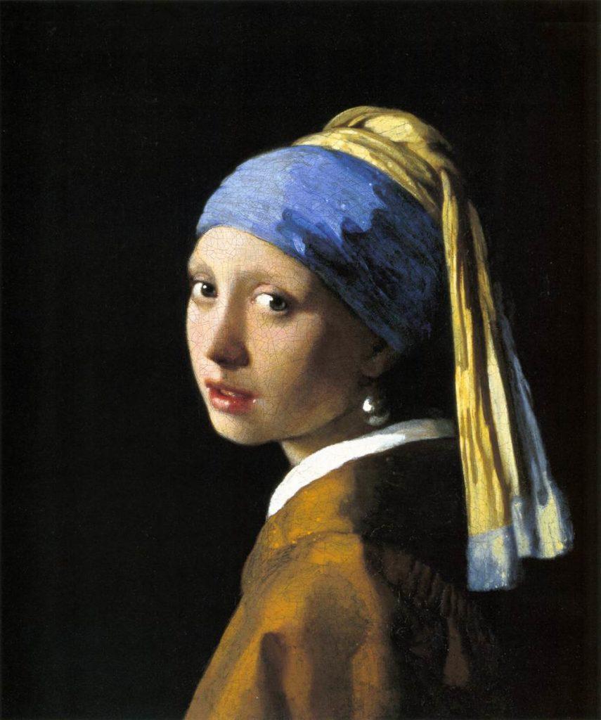 Jan Vermeer Mädchen mit dem Perlenohrgehänge berühmtes Gemälde Bild von Jan Vermeer