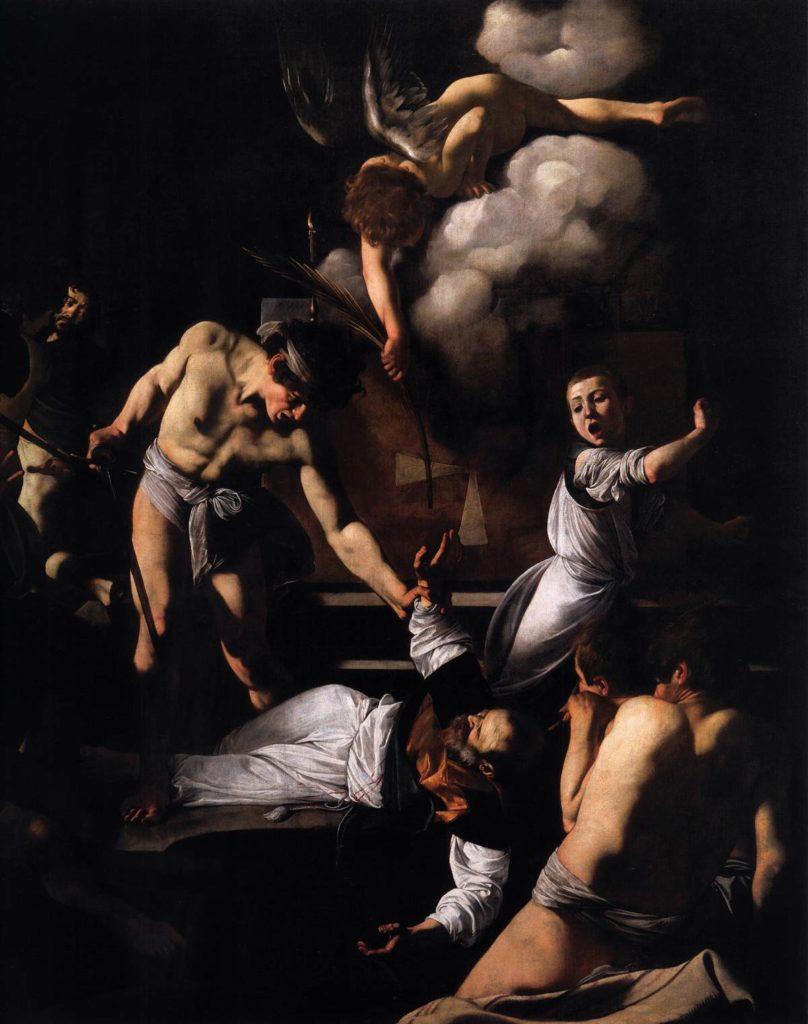Das Martyrium des heiligen Matthäus Caravaggio Detailansicht